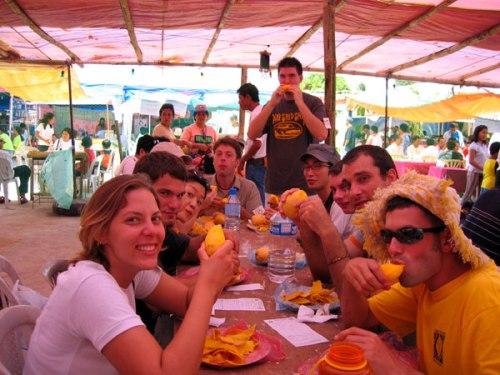 mango testing at mango festival dilli haat