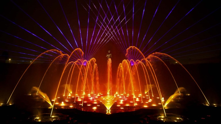 akshardham temple delhi water show image attraction