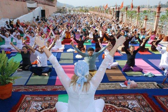 Yoga festival at rishikesh uttrakhand